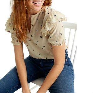 Madewell Embroidered Gazebo Top Blouse